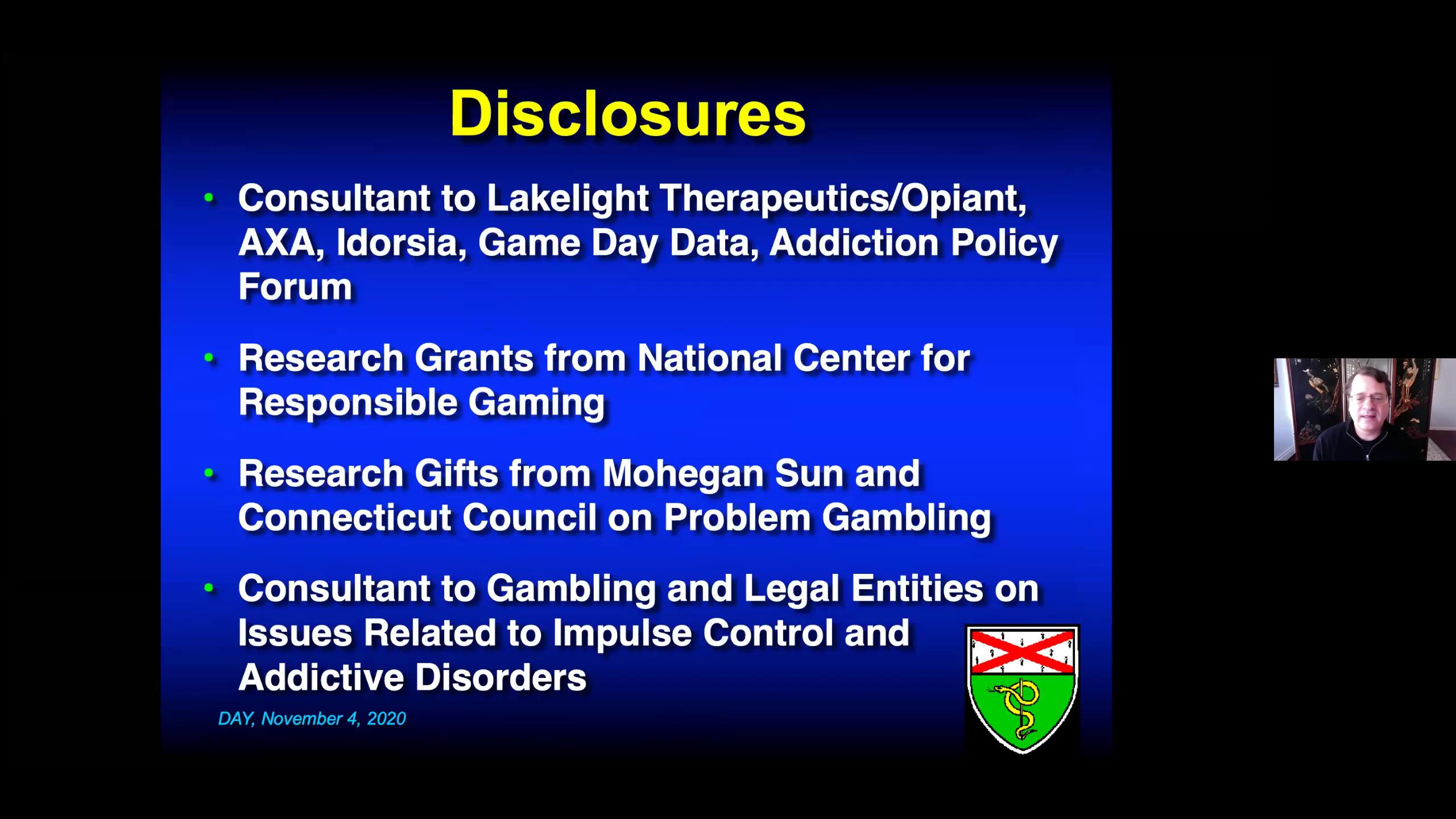 Division of Addictions Seminar: November 4, 2020