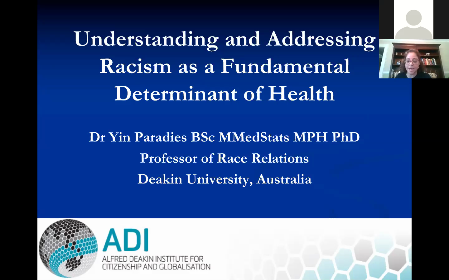 "Yale Department of Psychiatry Presents: ""Understanding and Addressing Racism as a Fundamental Determinant of Health"""