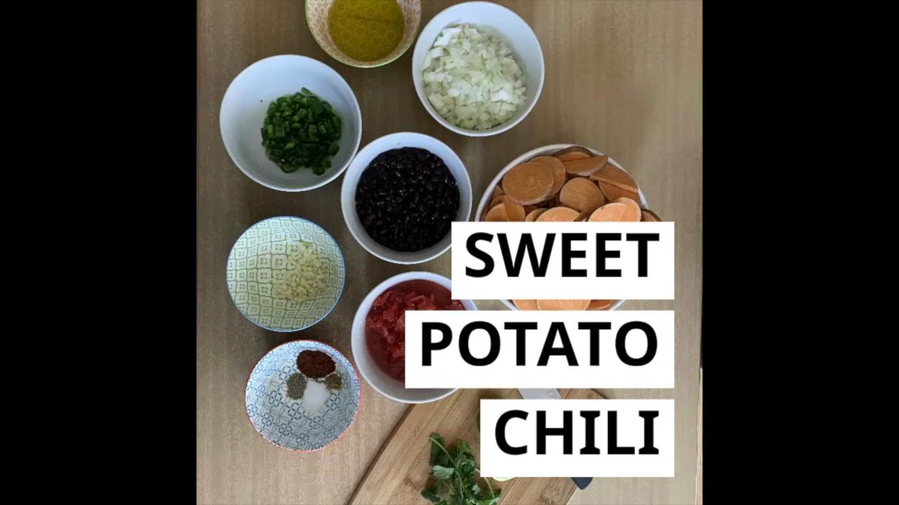 Sweet Potato Vegetarian Chili with Guacamole and Salsa Recipe