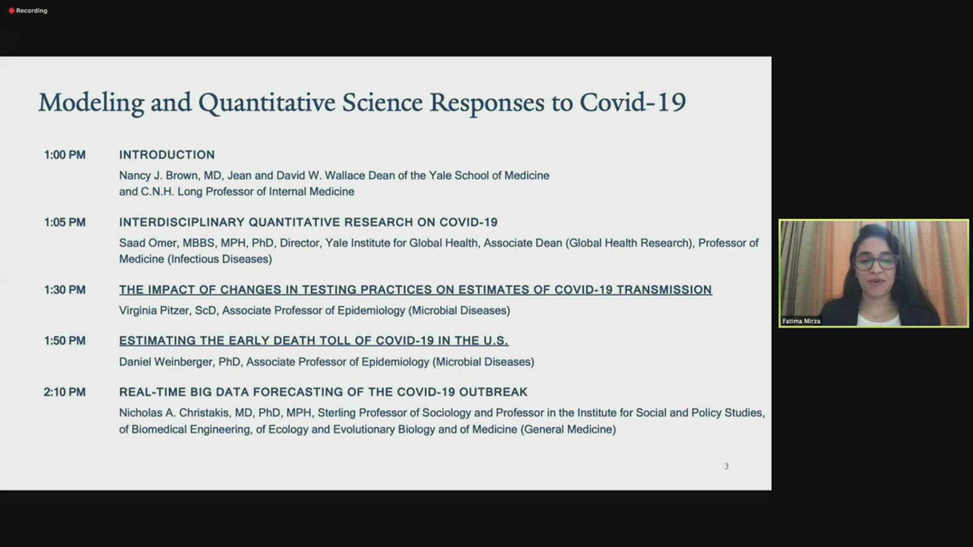 Introduction: Yale's Modeling and Quantitative Science Response to the COVID-19 Pandemic