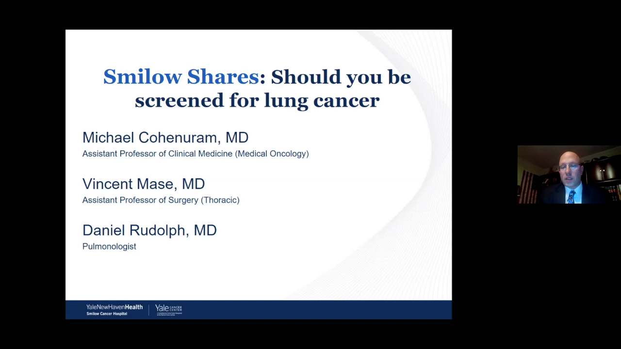 Smilow Shares Trumbull and Bridgeport: Should you be Screened for Lung Cancer? Ask about your Options