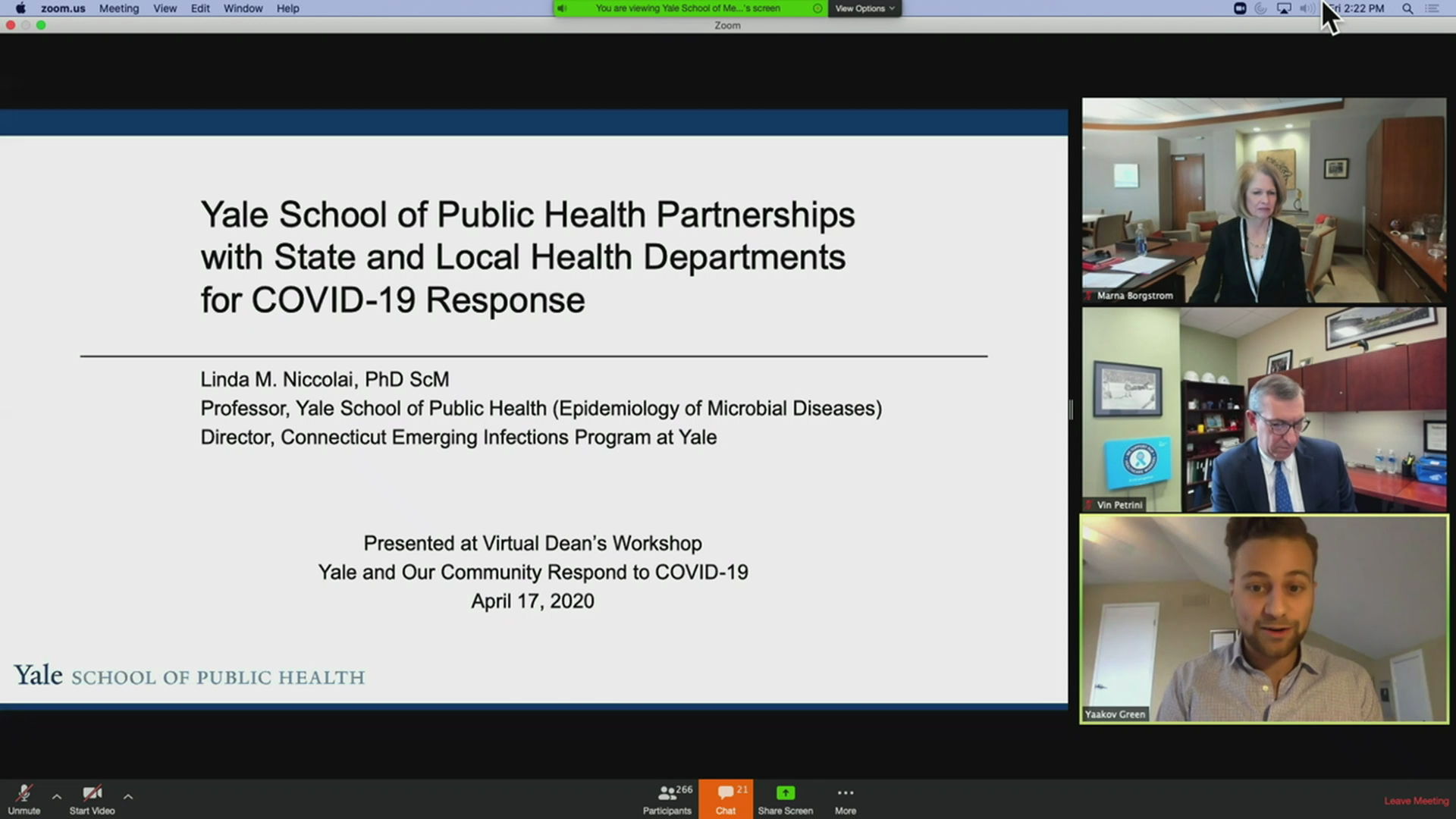 Yale School of Public Health Partnerships With State And Local Health Departments For Covid-19 Response