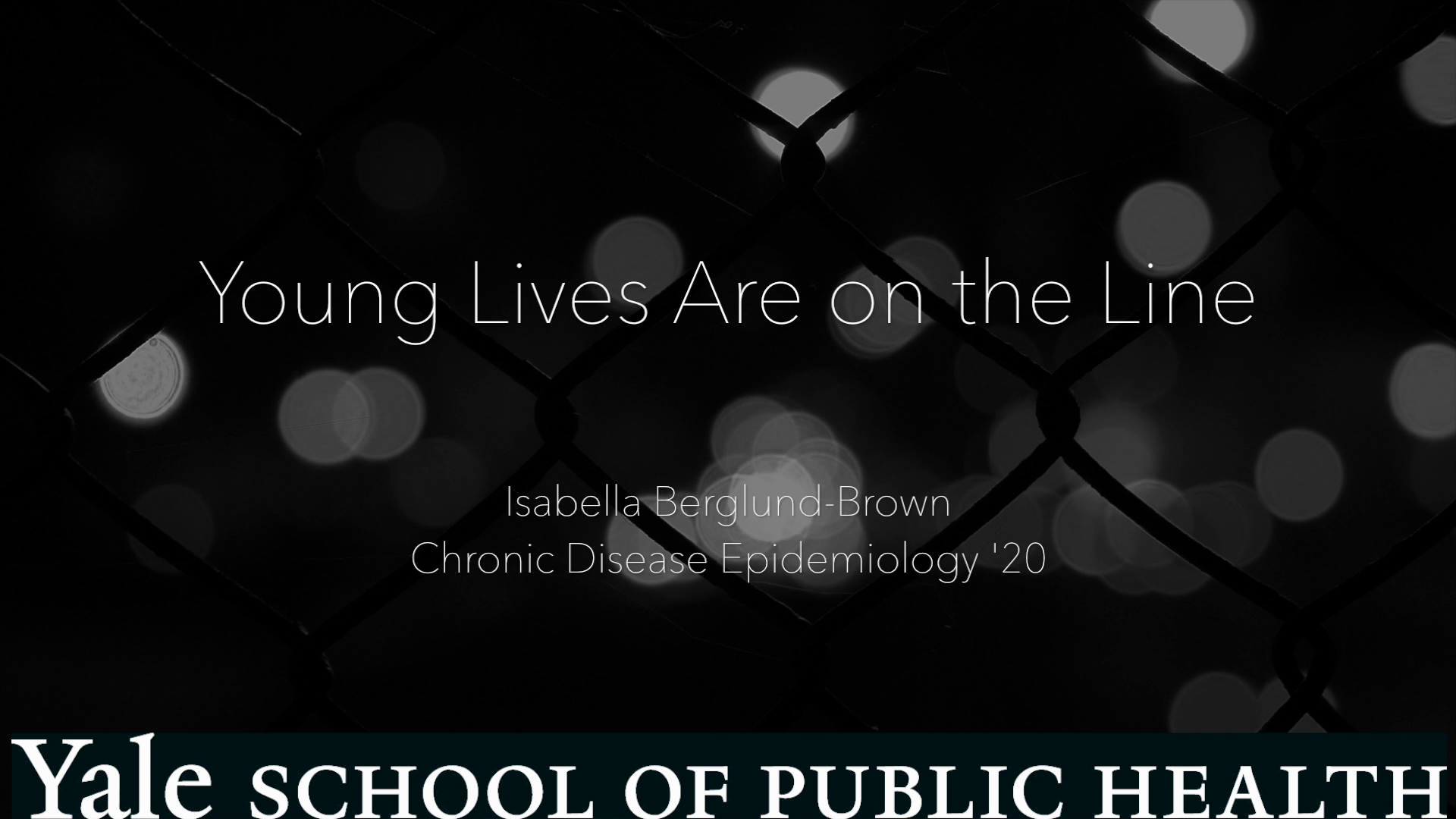 Young Lives Are on the Line